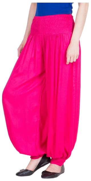 Fit LUJOSO For Women's Harem Solid Palazzo Belly AwwxqO8E