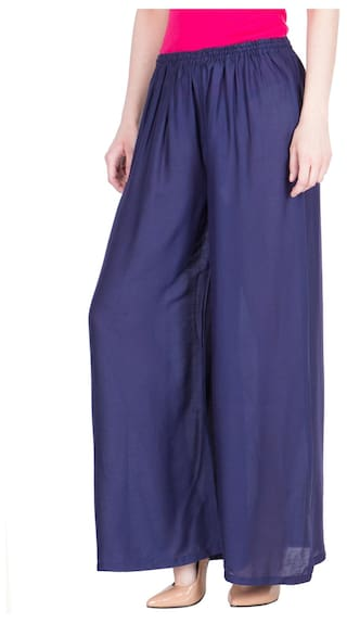 Palazzo Viscose Comfort LUJOSO For Women's Fit Solid 5tqtIw