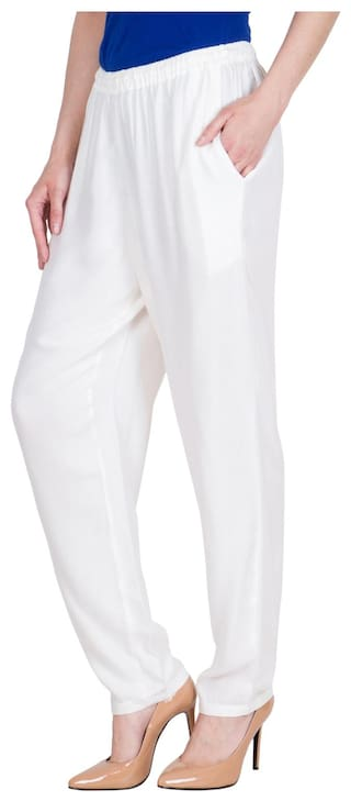 Regular Solid Viscose For Fit LUJOSO Pant Women's Palazzo 5Pdxqnwnt