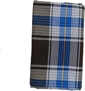 Fashion Wave Cotton Checked Regular Dhoti Dhoti - Multi