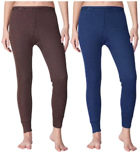 Lux cotts Wool Women Cotton Thermal bottom - Assorted