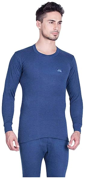Lux cotts Wool Men Cotton Thermal Top - Blue