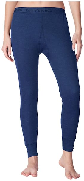 Lux cotts Wool Women Cotton Thermal bottom - Blue