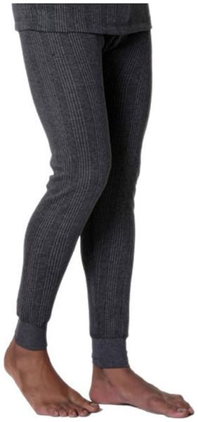 Lux Inferno Grey Melange Cotton Thermal Trouser