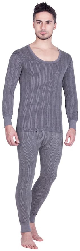 Lux Inferno Men Cotton Thermal Set - Grey