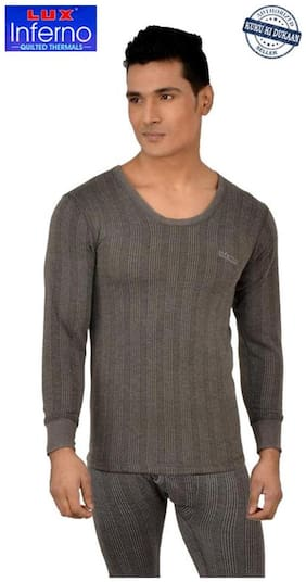 Lux Inferno Men Cotton Thermal top - Grey