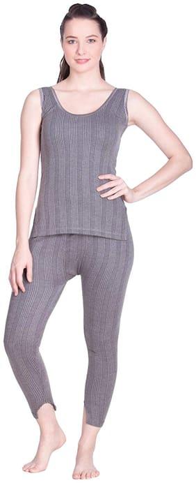 Lux Inferno Women Cotton Thermal set - Grey