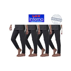 Lux Inferno Grey Cotton Pack Of 4 Lower