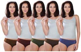 Lux Karishma Premium Assortedcolor Cotton Panties - Set of 5