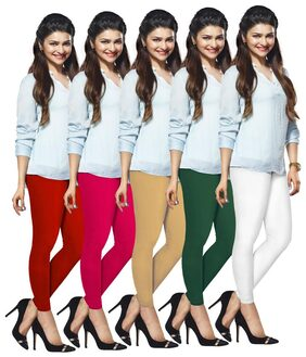 Lux Lyra Silk Cotton Slim Churidar - Multi