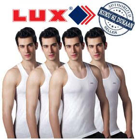 Lux Venus Set Of 4 White Cotton Vests