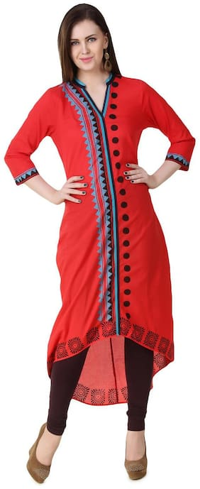 Luxury Living Casual Self Design Women's Kurti