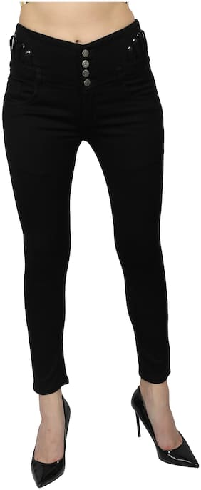 M MODDY Women Black Skinny fit Jeans