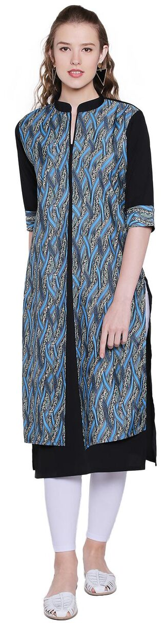 M. TEX Women Crepe Printed Straight Kurta - Multi