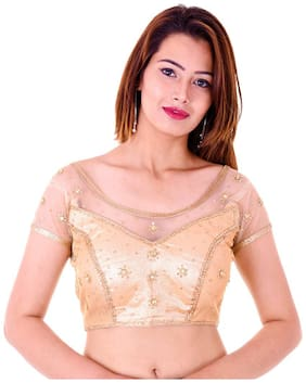 MAATE Gold Shimmer Readymade with Pad Blouse