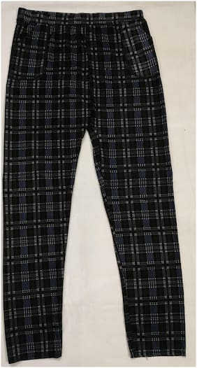 MAATE Women Black & Blue Straight fit Jegging