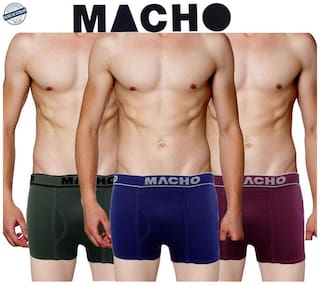 Macho Solid Mini Trunk - Multi ,Pack Of 3