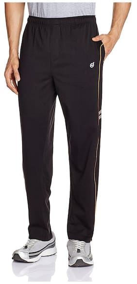 MacroMan Men Blended Solid Pyjama - Black