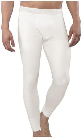 MacroMan Men Blended Thermal Bottom - White