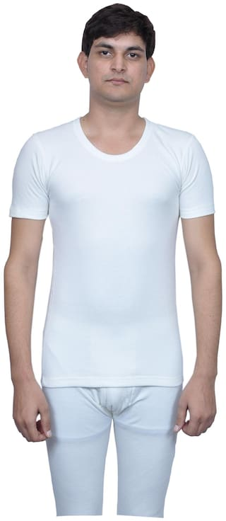 cf298c58d551a3 Buy MacroMan Men Cotton Thermal Top - White Online at Low Prices in ...