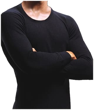 MacroMan Men Cotton Thermal top - Black