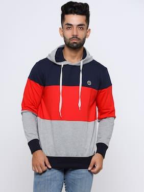 MAD TEE Men Multi Hooded Sweatshirt