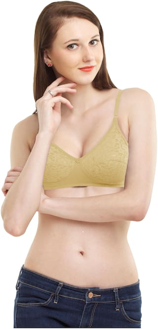 MADDIE Set of 1 Non Padded Lace T-Shirt Bra - Beige