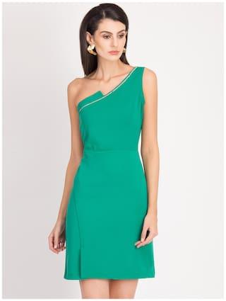 Magzayra Green Solid Sheath dress