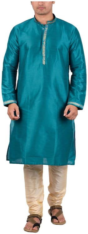 Maharaja Men's Silk Ethnic Kurta Pyjama Set