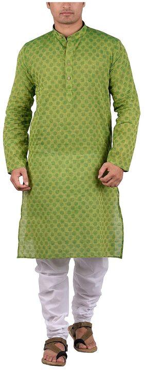 Maharaja Men's Cotton Ethnic Kurta Pyjama Set