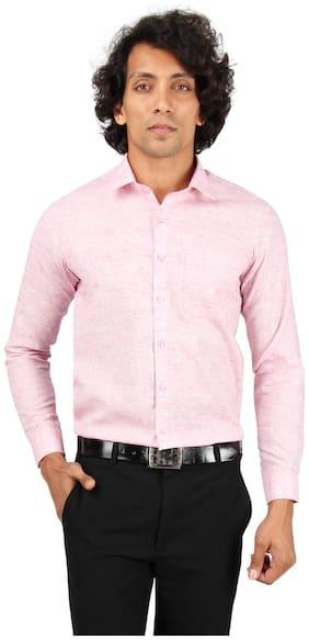 Maharaja Men Regular Fit Formal Shirt - Pink