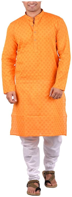 Maharaja Men's Cotton Ethnic Kurta Pyjama Set