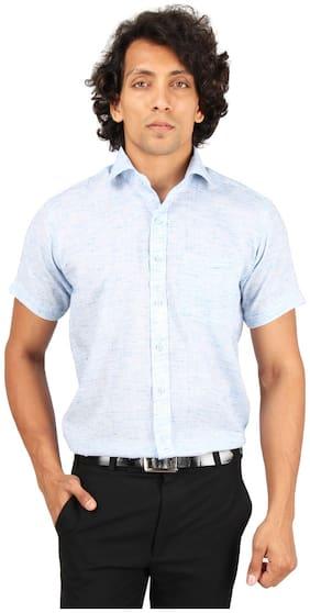 Maharaja Men Regular Fit Formal Shirt - Blue