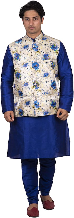 Maharaja Men Silk Blue Kurta Pyjamas