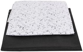 Maharaja PolyBlend Unstitched White Black Printed Shirt and Trouser Combo Set (Shirt 2.25m & Pant 1.2m) [MSP072]