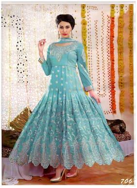 MAHATI Blue Georgette Semi Stitched Suit