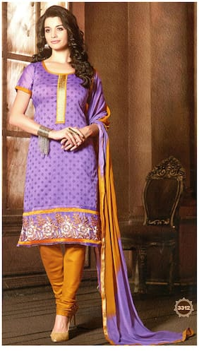 MAHATI chanderi cotton embroidered unstitched salwar suit