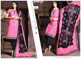 MAHATI cotton unstitched salwar suit with cotton dupatta