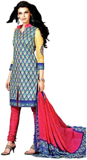 MAHATI cotton printed unstitched salwar suit