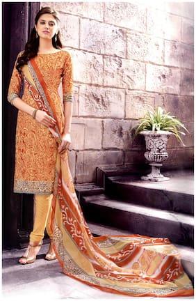 MAHATI crepe unstitched salwar suit with chiffon dupatta