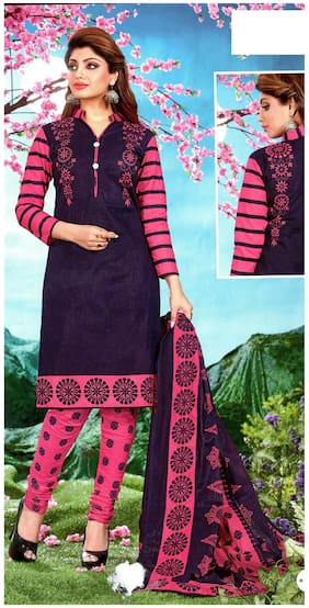 MAHATI printed cotton unstitched salwar suit with cotton dupatta