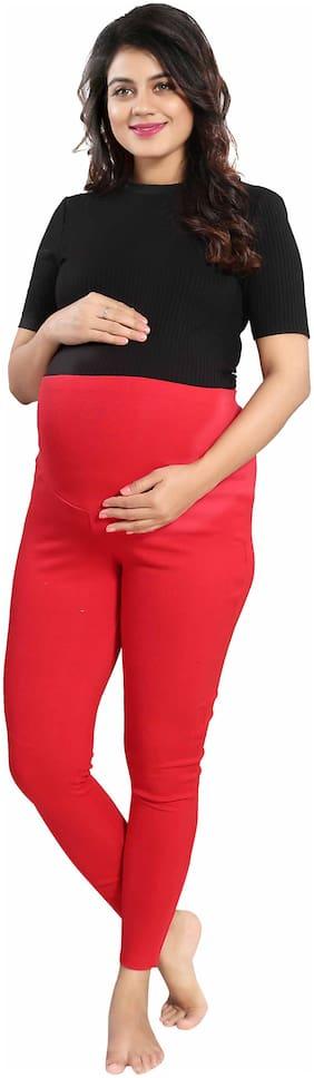 mamma's maternity Lycra Leggings - Red
