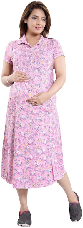 mamma's maternity Women Maternity Dress - Multicolor Xxl