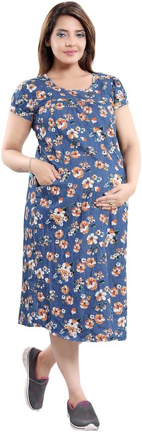 mamma's maternity Women Maternity Dress - Multicolor Xl