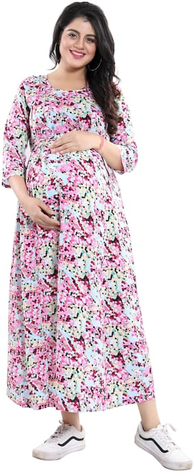 mamma's maternity Women Maternity Dress - Multicolor M
