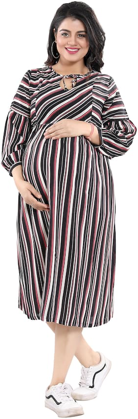 mamma's maternity Women Maternity Dress - Multicolor Xl