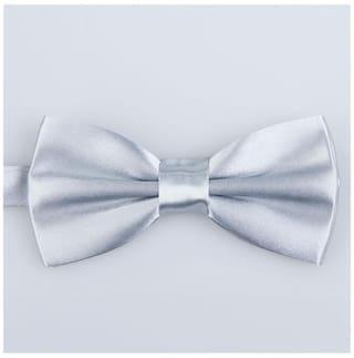 Classic Wedding tie Silk Polyester Grey Bow Boy Tied Man Pre Bowtie xnwUCYg0q4