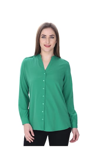 MansiCollections Jade Green Formal Shirt