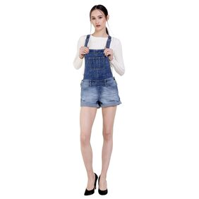 MansiCollections Solid Dungaree - Blue