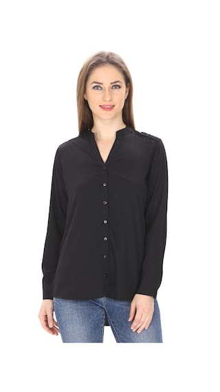 MansiCollections Classic Black Formal Shirt